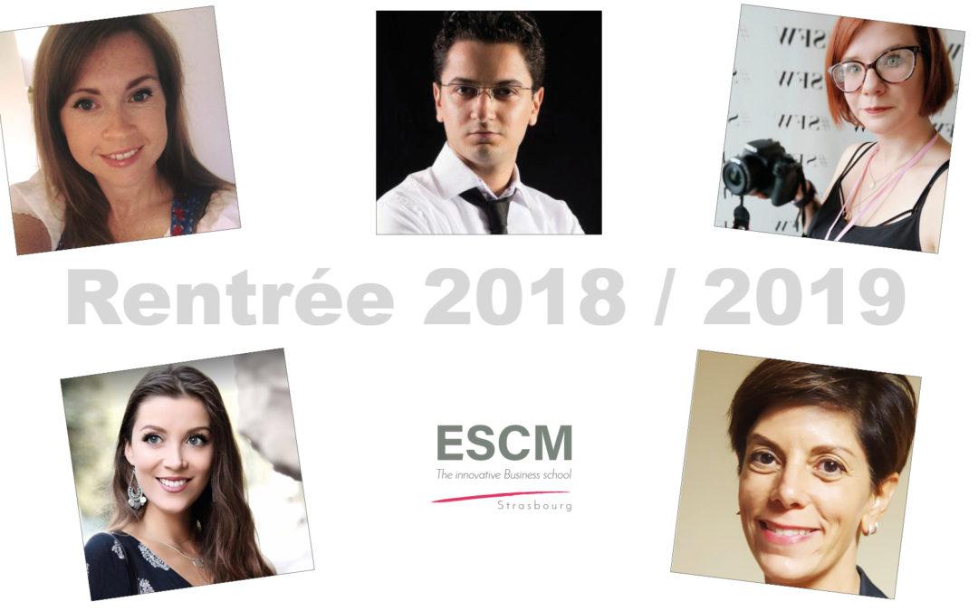 La rentrée scolaire 2018/2019 à l'ESCM